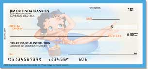 Betty Boop Beautiful Betty Personal Checks
