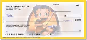 Betty Boop Beautiful Betty Personalized Checks