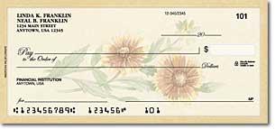 American Wildflowers Art Checks
