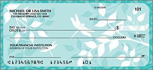 Botanical Silhouettes Personalized Checks