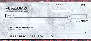 Executive Gray Personal Checks