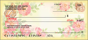 Flower Garden Personalized Checks