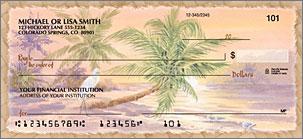 Palm Trees Checks Lg 1
