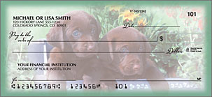 Playful Pups Personalized Checks