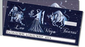 Zodiac Symbol Side Tear Personalized Checks