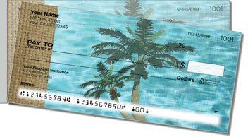 Peaceful Palm Tree Side Tear Personalized Checks
