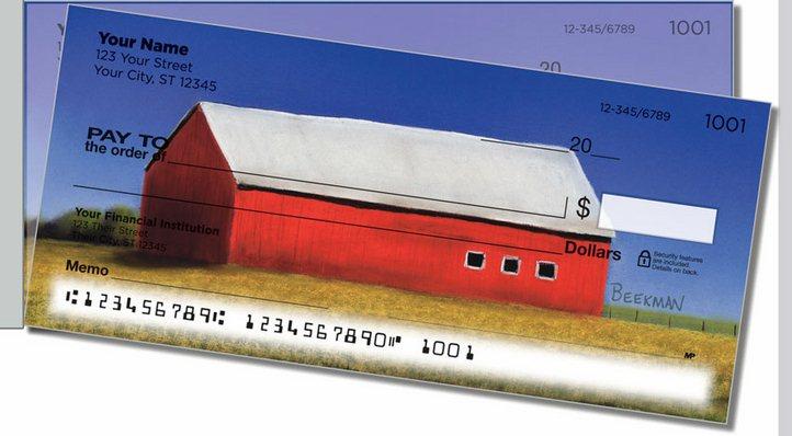 Barns Close Up Side Tear Personal Checks