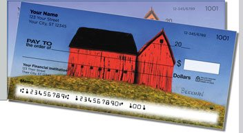 Barns Close Up Side Tear Personalized Checks