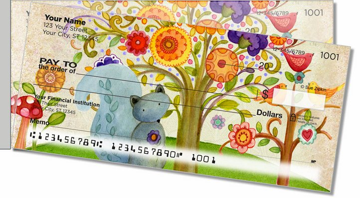 Zipkin Tree Of Life 2 Side Tear Personal Checks